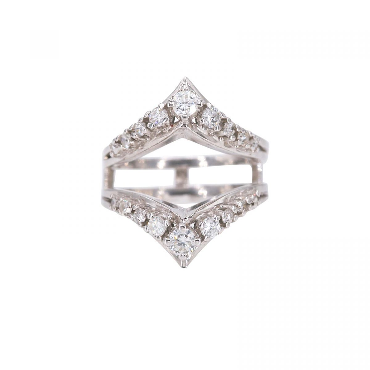 Scarlette ring 14 carat white gold and diamond party jacket