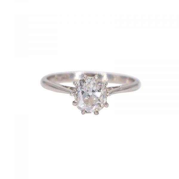 Amor Handmade platinum & diamond solitaire ring