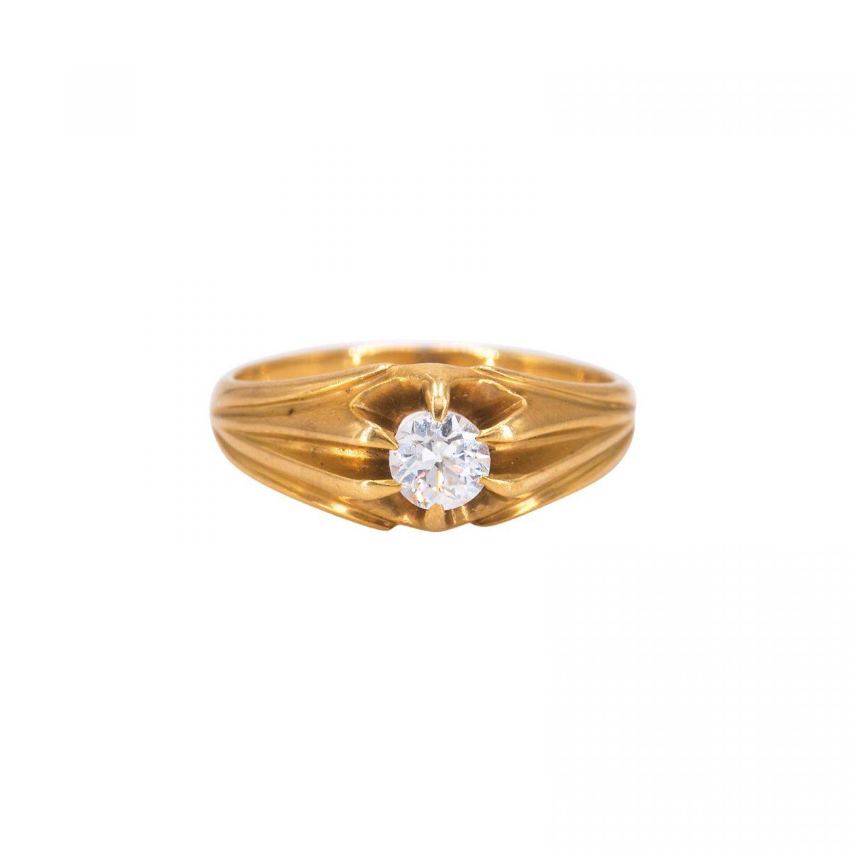 Chloe 14 carat yellow gold diamond ring