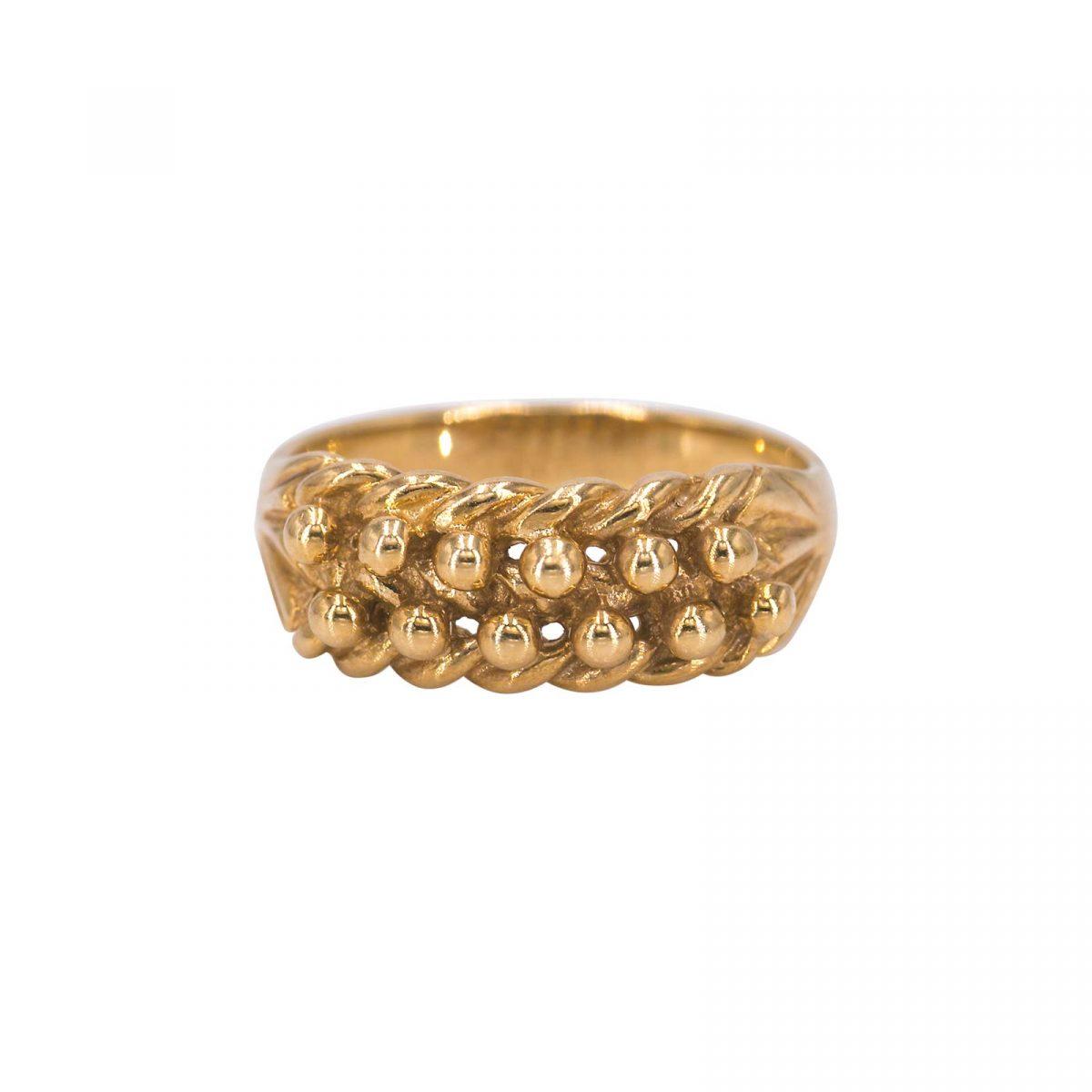 Mens ( unisex) 9 carat yellow gold knot ring